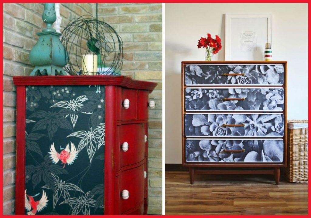 Decoracion De Muebles Pintados.Como Decorar Un Mueble Con Papel Pintado Hogar Y Decoracion