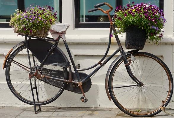bicicleta con macetero
