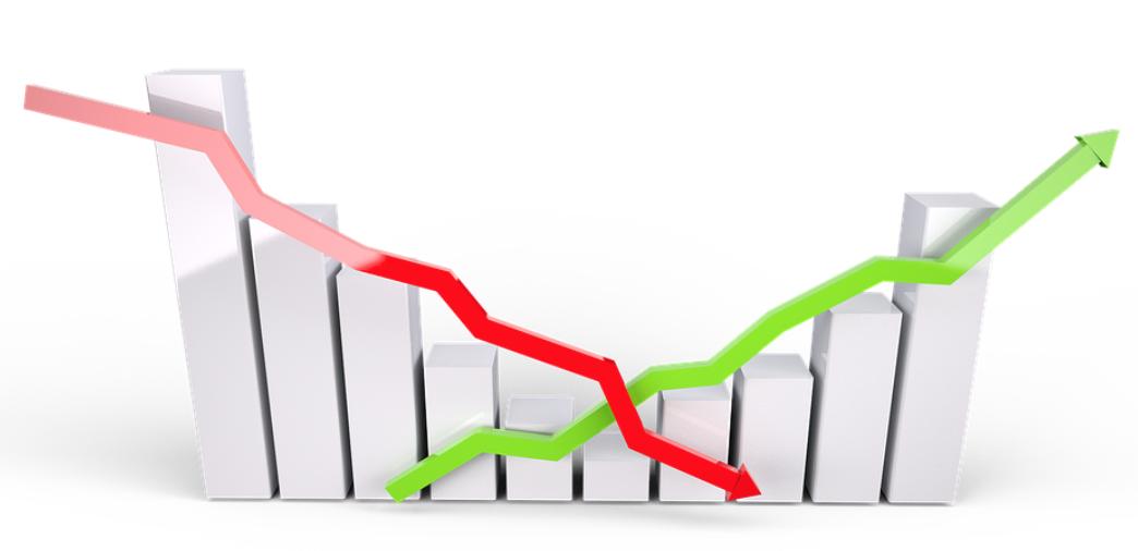 Lineas roja y verde de estadística