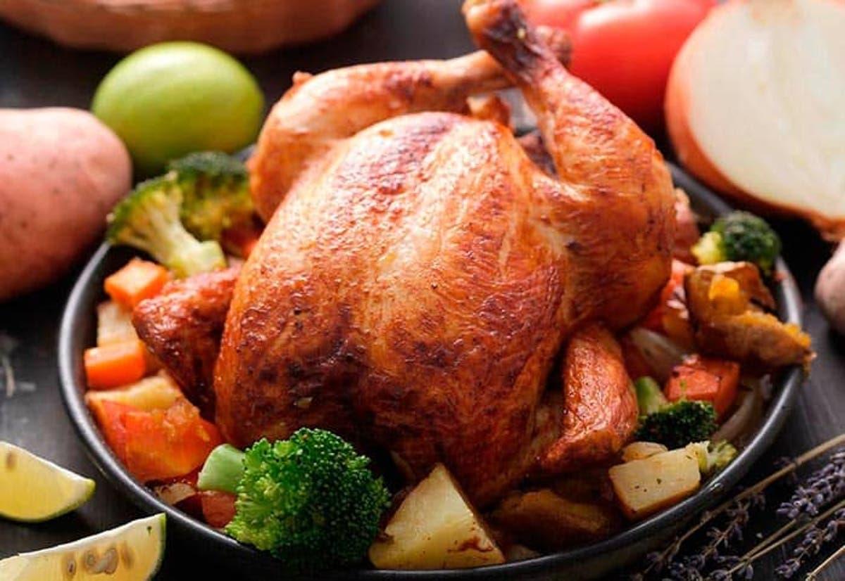 Pollo horneado casero