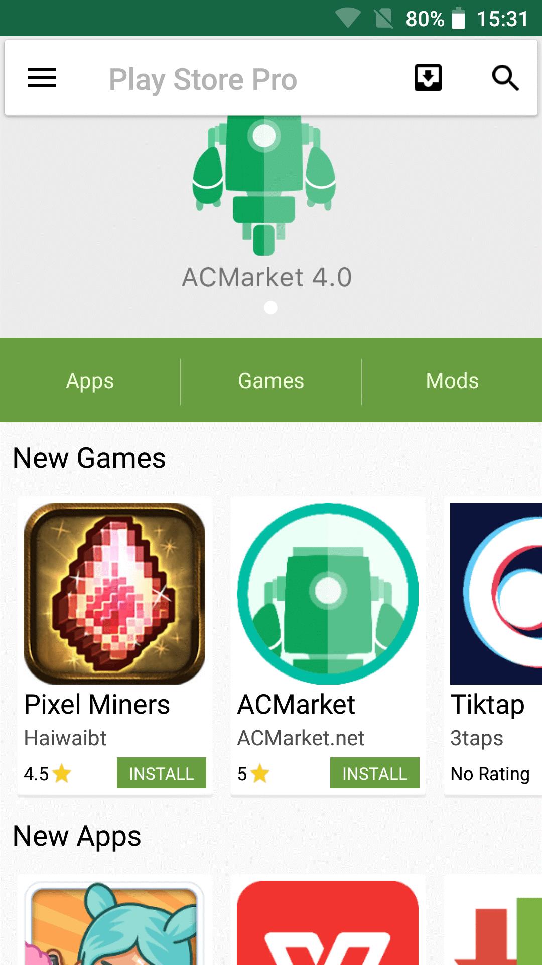 descargar e instalar el archivo APK de la tienda AC Market