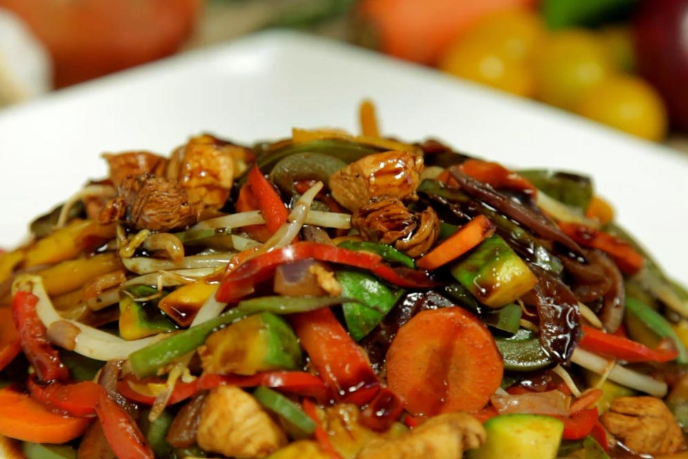 chop suey cerdo receta china